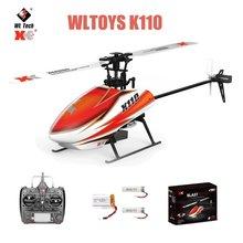 Original wltoys xk k110 rc mini zangão 2.4g 6ch 3d 6g sistema brushless motor rc quadcopter brinquedos de controle remoto para presentes das crianças