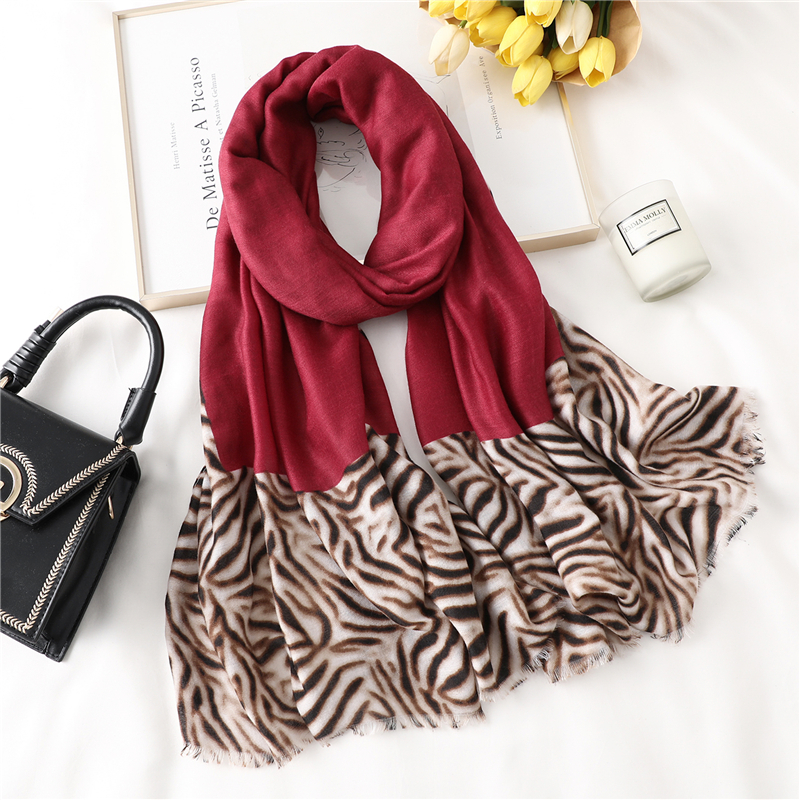 2019 Lady Shawls Design Print Zebra Striped Women Cotton Feeling Scarf Hijab Foulard Pashmina Wraps Female Winter Scarves