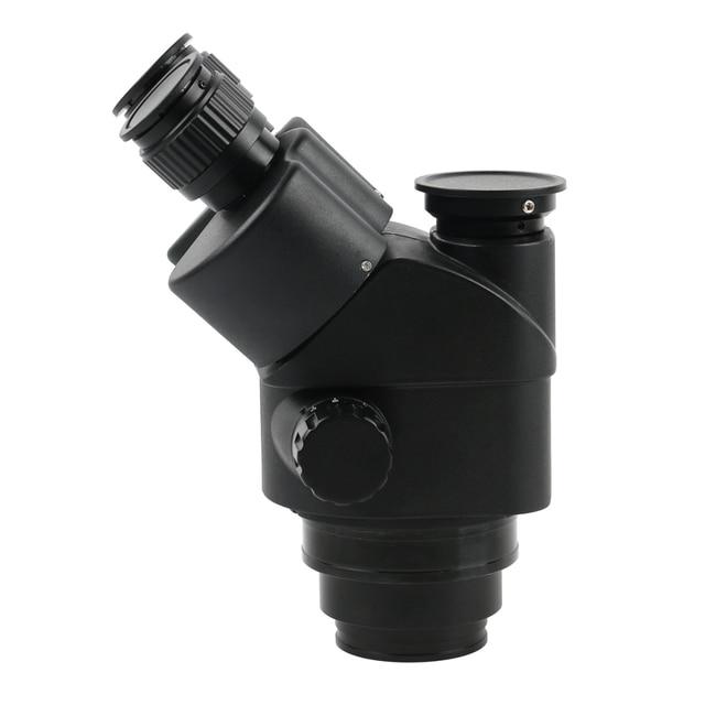 2019 Black 7X-45X 3.5X-90X Simul-Focal Trinocular Microscope Zoom Stereo Microscope Head + 0.5x 2.0x Auxiliary Lens 1