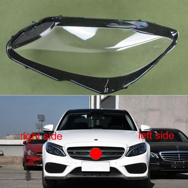 Новинка 2015 2018, абажур для фар Mercedes Benz W205 C180 C200 C260L C280 C300, прозрачный