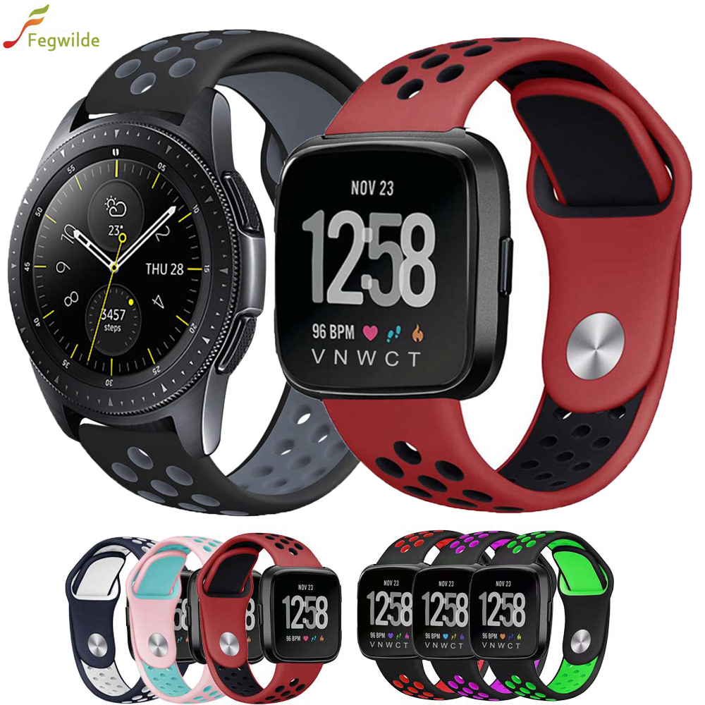 Gear S3 Frontier Sport Strap For Samsung Galaxy Watch 46mm 42mm Band 22mm 20mm Silicone Strap Amazfit Bip Bracelet Accessories