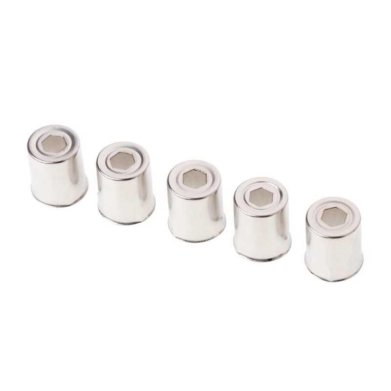 Tapa de acero de 13mm de diámetro, repuesto para horno microondas, orificio redondo, magnetrón plateado, diámetro de 14,5mm, 5 unids/set 10166
