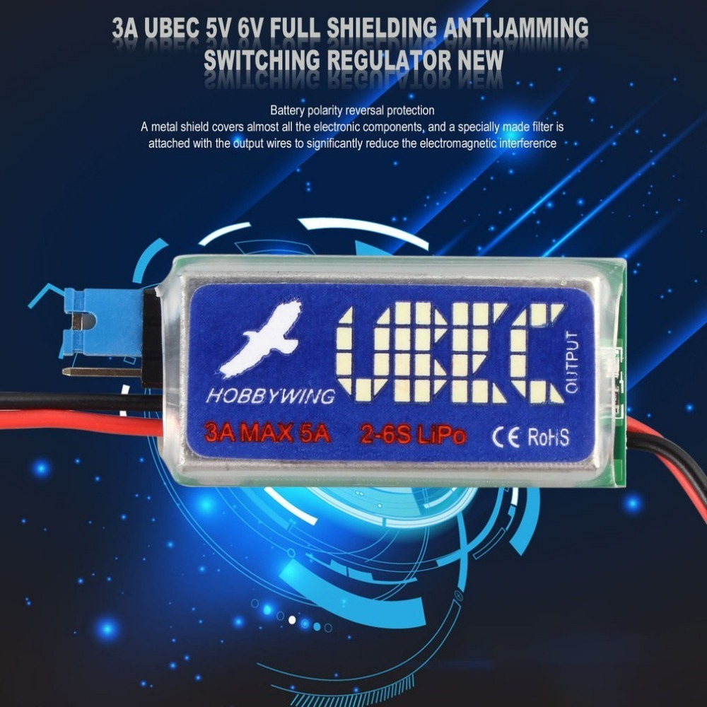 RC UBEC 5V 6V 3A Max 5A Switch Mode Lowest RF Noise BEC for RC Models HOBBYWING