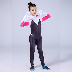 Image 3 - Gwen Stacy Costume Spider Gwen Cosplay Mask Zentai Suit Bodysuit Jumpsuit Spider Girl Halloween Costumes Girls Women
