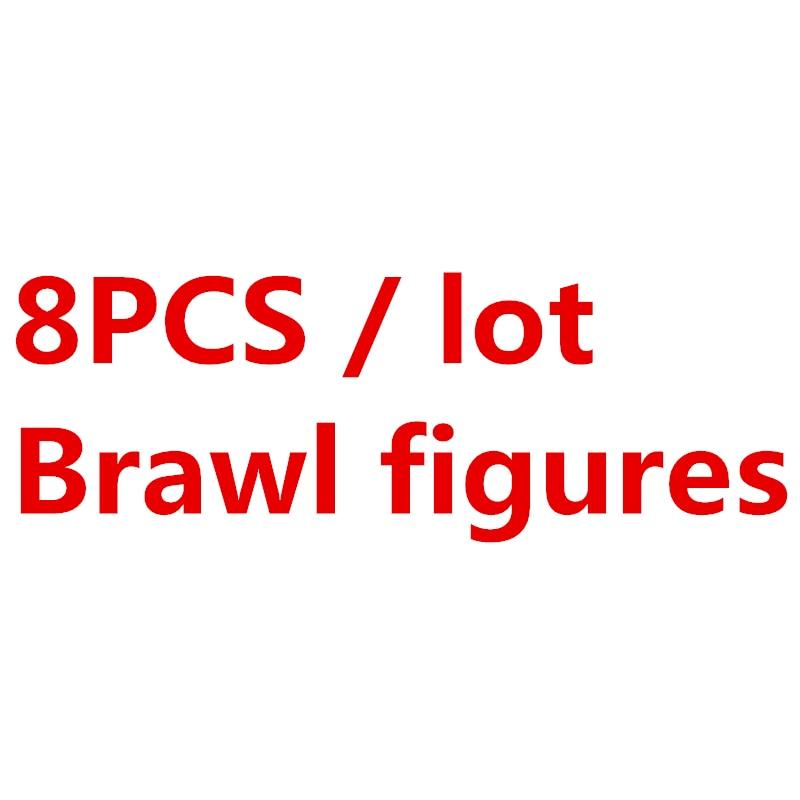 8Pcs/sets Brawl Game Cartoon Colt Figures Battle Hero Doll Anime Model Building Blocks Bricks Classic Kids Star Toys Compatible