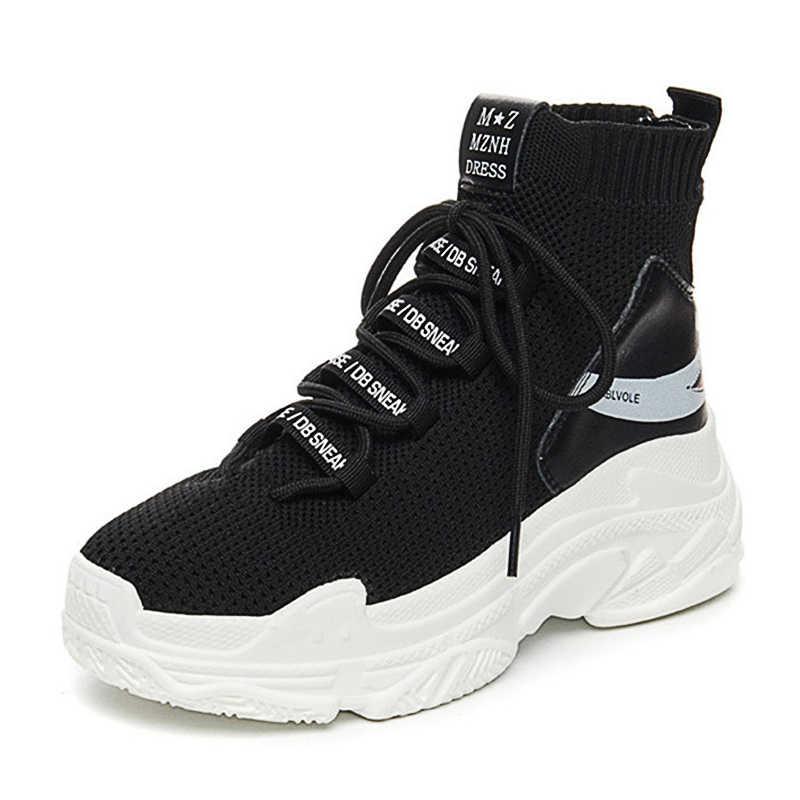 Shark Sneakers Women Knit Upper