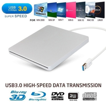 External USB 3.0 Slot DVD Burner External Mobile Disc Player Laptop Computer Optical Drive 1