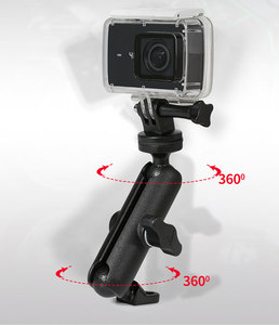Image 3 - Motorcycle Riding Camera Holder Rearview Mirror Adjustable Metal Fixed Bracket Stand For GoPro Hero 8/7/6 Action Cameras