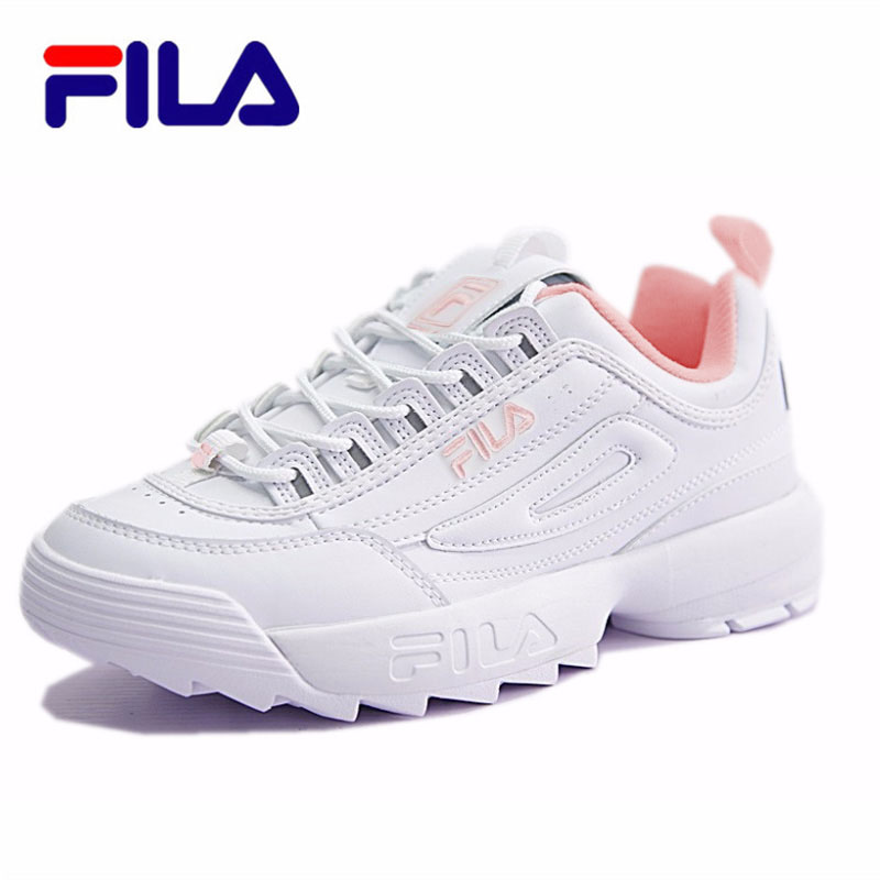 FILA Running Shoes Female Sports Shoes Summer Outdoor New Pink/white HOT SALE Size 36-44