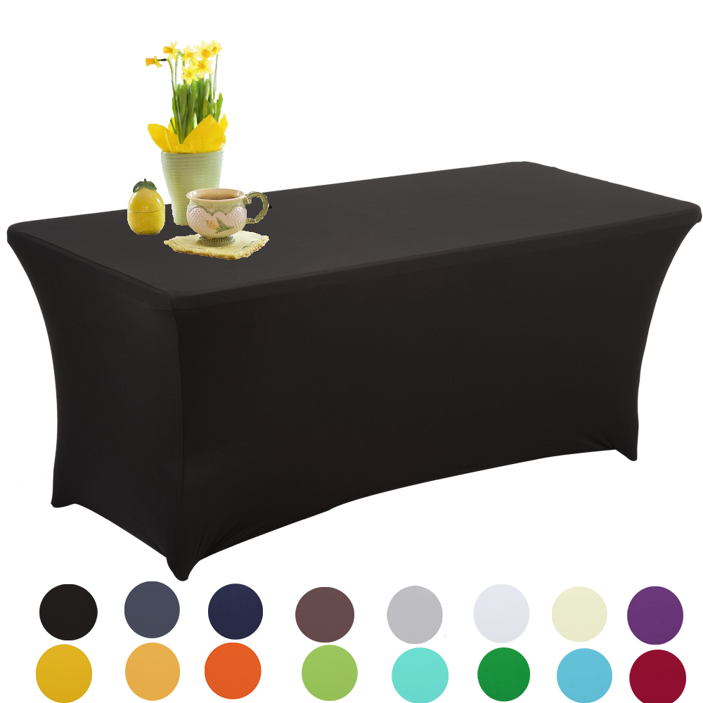 Table Cover Cocktail Dry Bar Stretch Round Fit for Party Wedding Event ?76-80cm White HAORUI Spandex Lycra 30