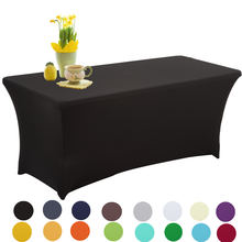 Rectangular Tablecloths Spandex Stretch Table Cover For Wedding Hotel Home Event Party Decoration HAORUI 1PC