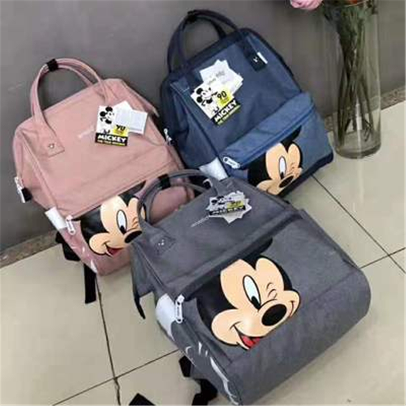 Minnie Mickey Mouse Kids  Bag  Primary School Student Boys And Girls Backpack Bag For School Handbag Outdoor Backpack