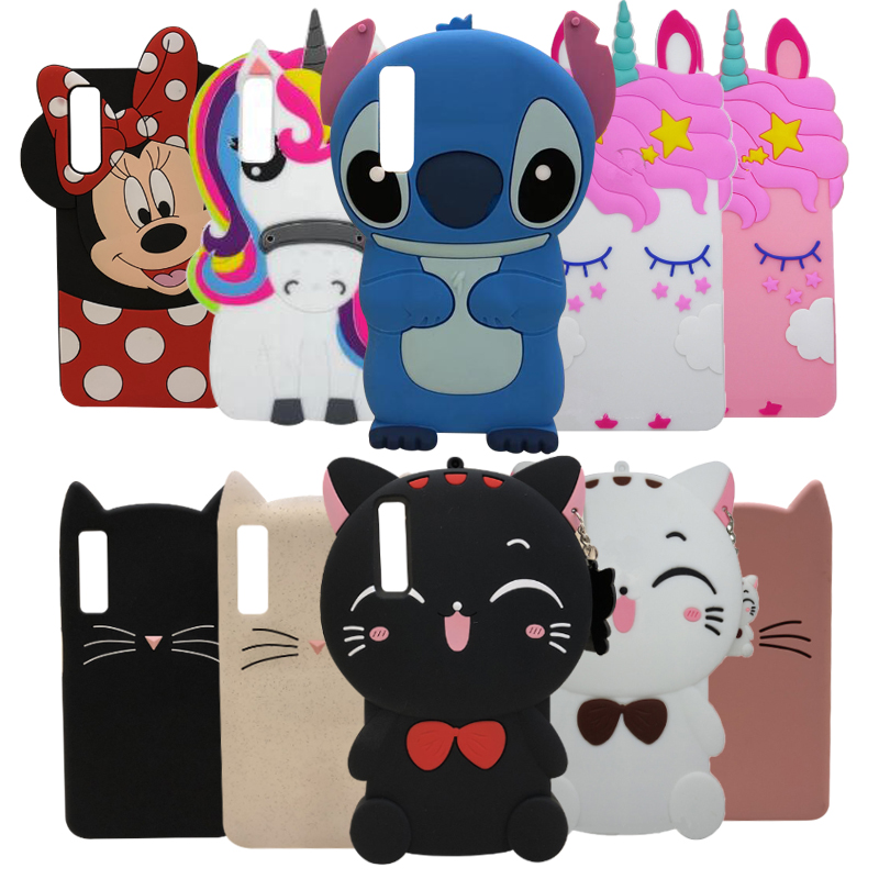 Bag Case Back-Cover Cat Unicorn Soft-Silicone Samsung Galaxy Cartoon Minnie Cute A750
