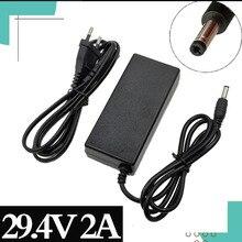 29,4 V 2A Ladegerät für 24V 25,2 V 25,9 V 29,4 V 7S lithium batterie 29,4 V ladegerät e bike Ladegerät DC 5.5*2,1 MM EU/US/AU/UK
