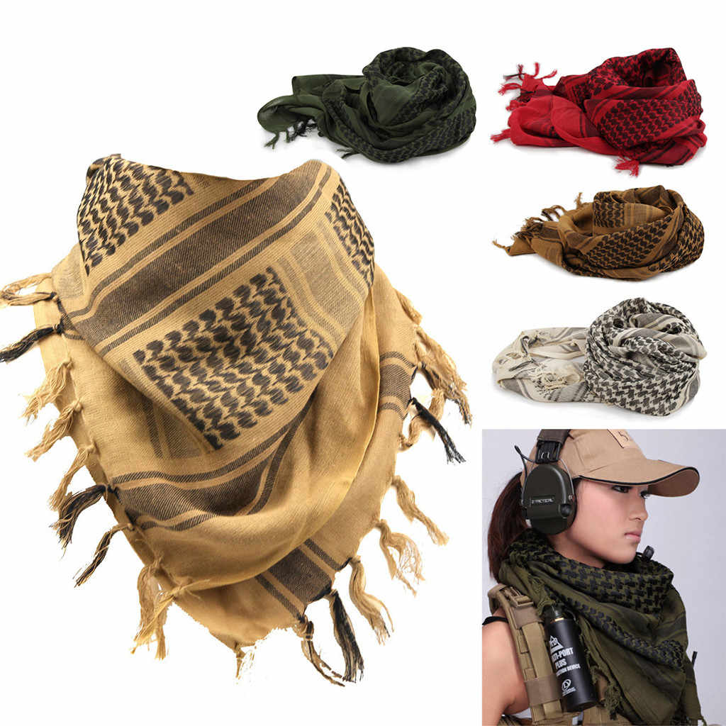 Mens Woman Lightweight Military Arab Tactical Desert Army Scarf Outdoor Scarves