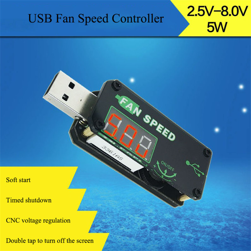 <font><b>5V</b></font> <font><b>USB</b></font> <font><b>Fan</b></font> Cooling Governor <font><b>USB</b></font> <font><b>Fan</b></font> Speed <font><b>Controller</b></font> LED Dimming Module <font><b>Fan</b></font> Speed <font><b>Controller</b></font> Input 4.0V-12V/output 2.<font><b>5V</b></font>-8.0V image