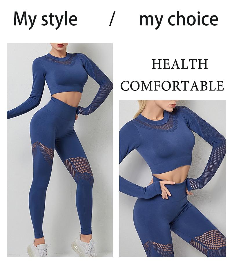 conjunto yoga ginásio feminino legging roupas cintura