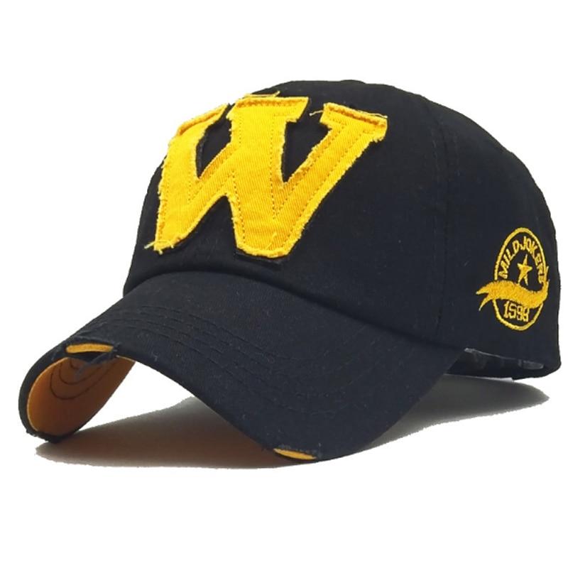 7 Color Washed Denim Snapback   Caps   Autumn Cotton Letter W New Men Women   Baseball     Cap   Sunblock Beisbol Casquette