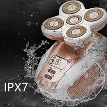 Портативный электрический эпилятор с пятью головками для удаления волос для женщин, безболезненная Бритва для волос, эпилятор для тела, USB Перезаряжаемый depilador 15