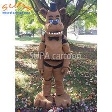 Бесплатная доставка милый стиль плюшевый костюм buffalo/коричневый