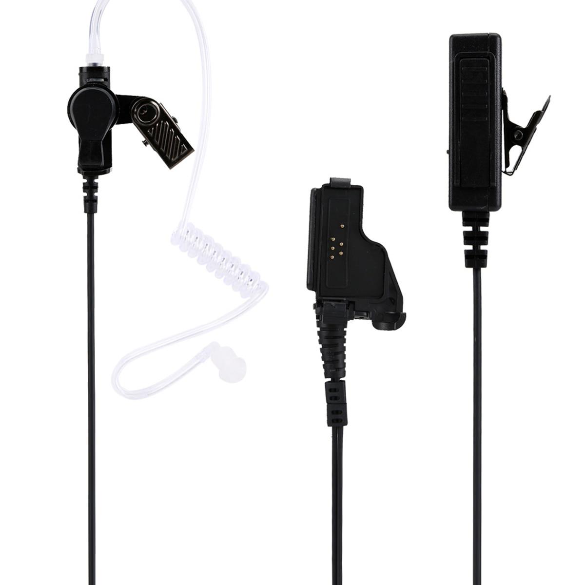 Walkie Talkie Air Acoustic Tube Earphone PTT Button Duct Earpiece Headset For Motorola HT1000 XTS3000 XTS5000