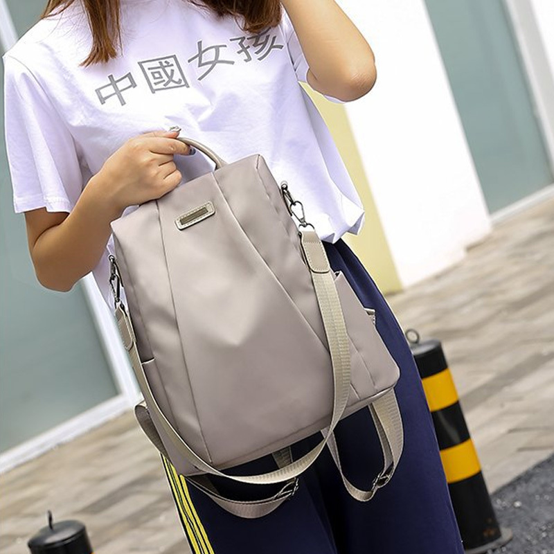 H246b709423ea4509a1ed08db39e0d1ebS - Women Fashion Backpack Oxford Multifunction Bags Female Anti-theft Casual Backpacks Girl's Elegant Mochila For School Work