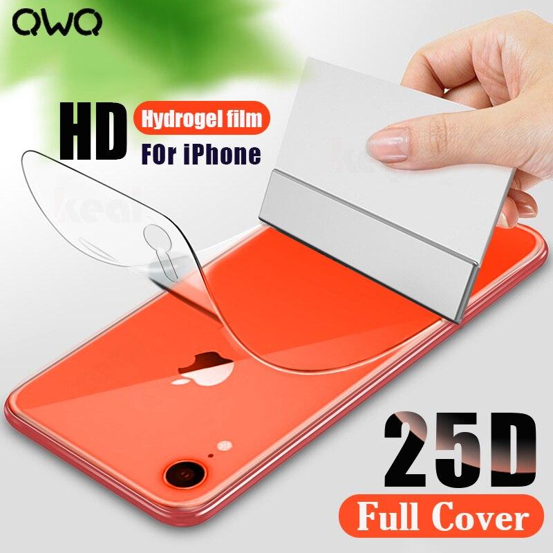 25D полное покрытие изогнутая Гидрогелевая пленка для iPhone 11 XR X XS MAX Защита экрана для iPhone 6 6s 7 8 Plus SE 2020 пленка не стекло|Защитные стёкла и плёнки|   | АлиЭкспресс