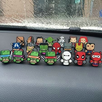 Cartoon Air Freshener Car Perfume Vent Outlet Clip Deadpool Star Wars Cute Style Auto Solid Fragrance Air Conditioner Freshener image
