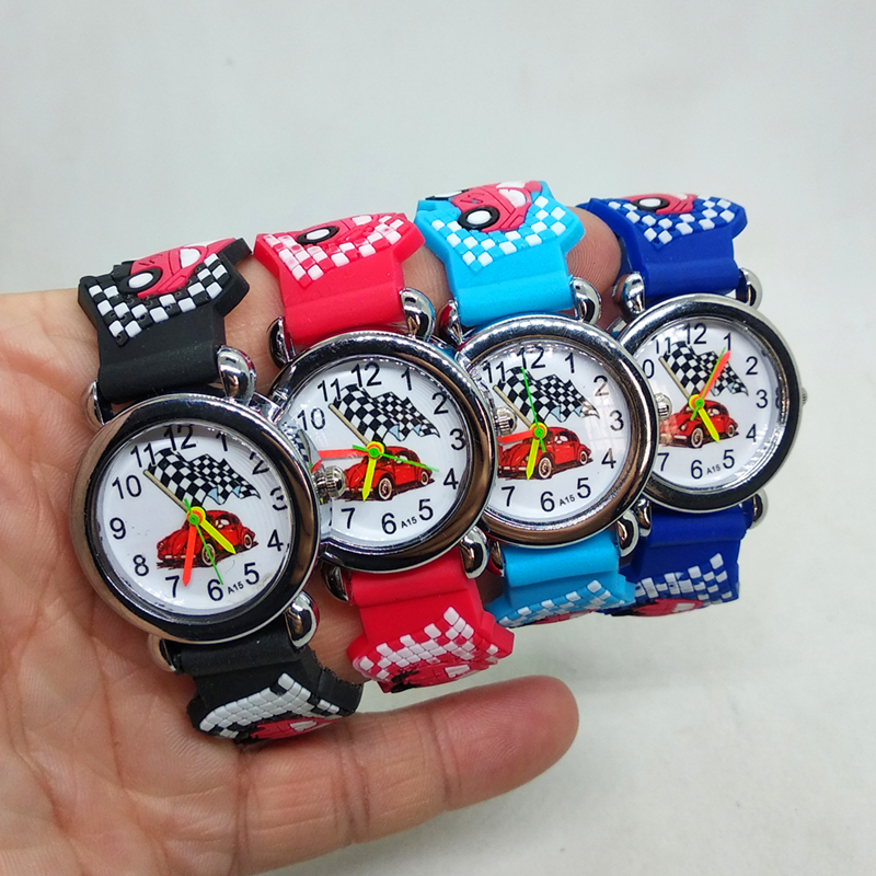 Cartoon Car Watch Children Baby Learn Time Toys Gifts Kids Watches Children Watch Clock Kid Gift Boys Child Electronic Watch