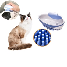 Pet Dog Bath Brush Comb Dogs Cats Shower Hair Grooming Comb SPA Massage Brush Soft Silicone Dog Cleaning Tool Pet Supplies pet comb cleaning tool lice brush pet supplies cat dog comb hair fur removal brush flea comb dogs cats pet grooming fine toothed