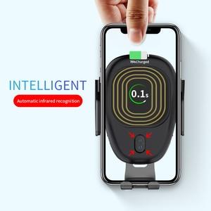 Image 2 - Aqo 自動車電話ホルダー iphone 虎尾インテリジェント赤外線チー車のワイヤレス充電器空気ベントマウント携帯電話ホルダー EDZ 13