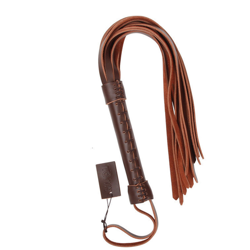 Genuine Leather Whip Hot Sexy Fetish Spanking Bondage Flogger Porn Sex Whip Short Whip Erotic Toys For Adults SM Game