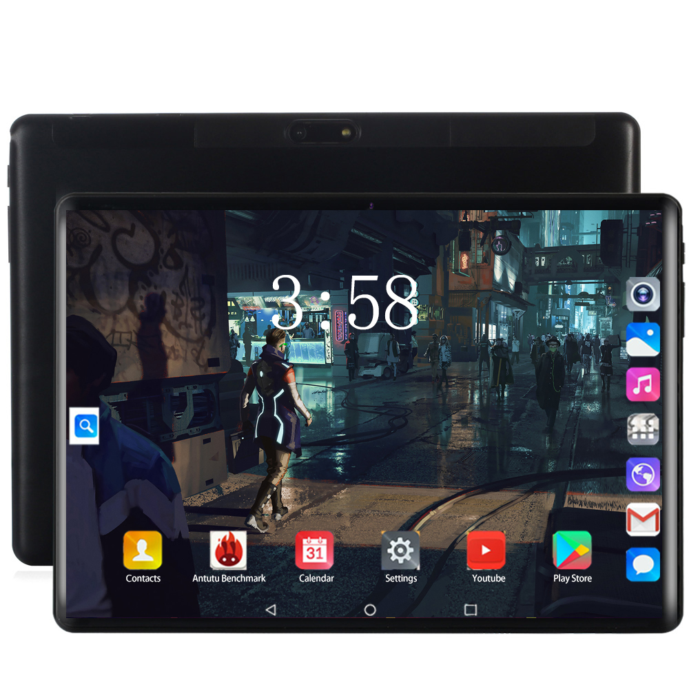 Tablet Stand 10.1 Inch Tablet Pc Octa 8 Core 128GB Tablets Android 8.0 WiFi Bluetooth GPS 3G 4G Phone Call Dual SIM 64GB FDD Tab