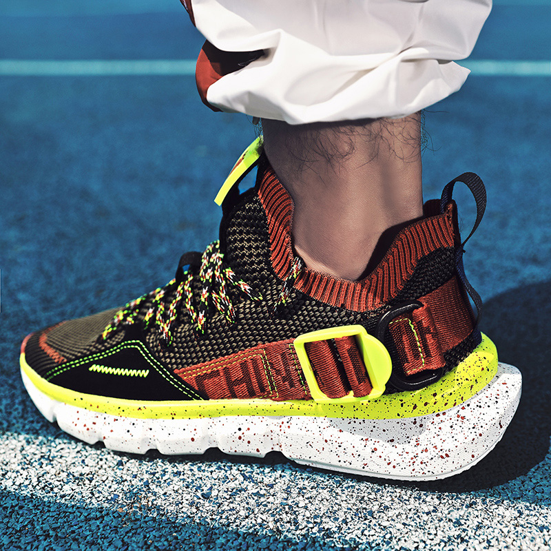 2020 New Men Running Shoes Trend Sneakers Air Lightweight Air Mesh Sport Shock Absorption Cushion Breathable Outdoor Anti-Slip