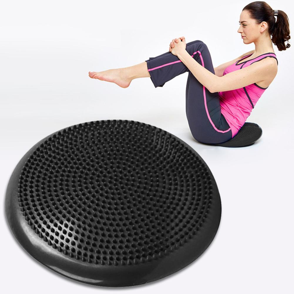 34 см коврик для баланса для взрослых йоги тренировочный фитнес-массаж воблер стабильность баланса дисковая подушка тренировочный толстый ...