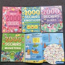 2000 autocollants livre dactivités anglais pour enfants, autocollants animaux, princesse/ferme/Alien/Halloween, cadeaux pour garçons et filles