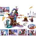Друзья Анна и Эльза  зимний Ледяной Мир  принцесса  очаровательное волшебное дерево  дом Lepining Friends  строительные блоки  кирпичные игрушки 41164