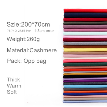 2020 winter scarf for women long warm cashmere scarves hijab solid lady shawl wrap female