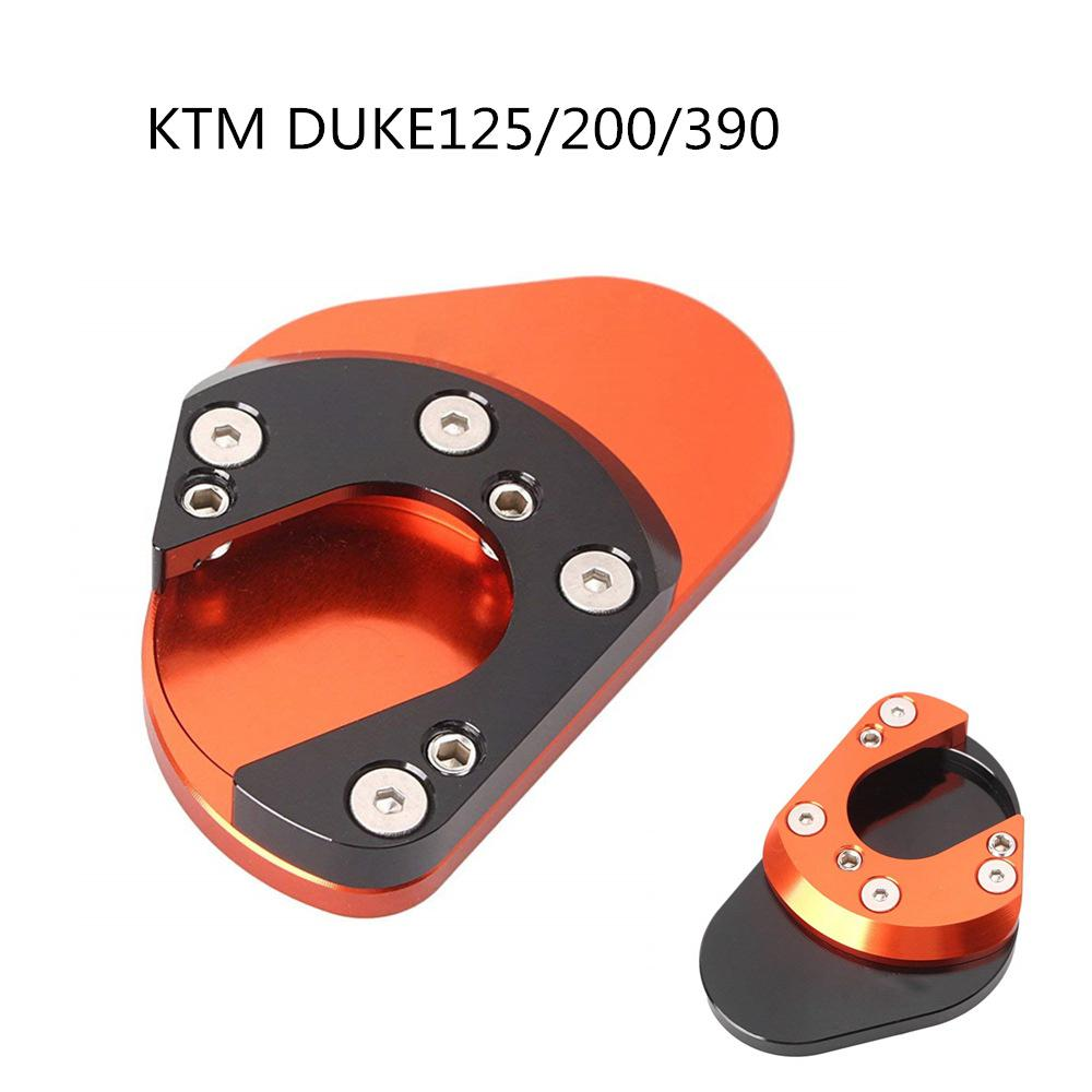 Motorcycle Strong Side Stand For KTM DUKE125/200/390 RC125/200/390 690 Motorbike Kickstand Side Stand Plate Extension