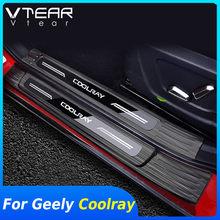 Vtear Für Geely Coolray sx11 tür sill abdeckung innen pedal außen auto-styling dekoration chrome trim zubehör teile 2020
