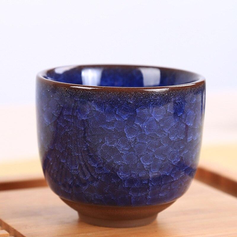 6pcs/set Crackle Glaze Tea Cup China ceramic cup drinkware Home Tea Cup Creative cermaic cup 80ml Gift Box