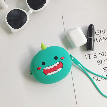 Q UNCLE Coin Purse Cute Silica Gel Cartoon Wallet Pouch Bags Earphone Case Portable Novelty Cosmetic Storage Bag for Kids Gifts novelty girl 2015 brand new fashion cartoon cute cat face zipper case coin case purse wallet makeup buggy bag pouch