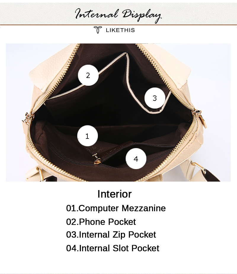 H246c9806456a4be89fc94358014b1bd5U Women Backpack for School Style Leather Bag For College Simple Design Women Casual Daypacks mochila Female Famous Brands168-325