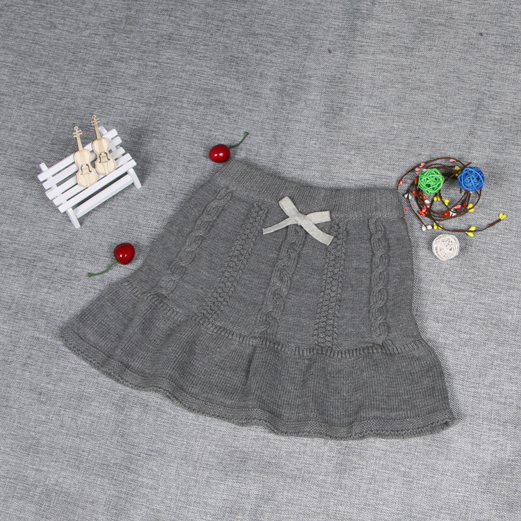 INS Hot Selling Spring Winter Medium-small Women's Infants Children Baby Pure Cotton Yarn Knitted Pullover Sweater Short Skirt