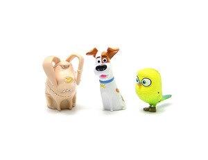 Image 2 - 14 pz/set Animali del fumetto Del Cane Del Coniglio PVC action figure Mini animale gatto uccello Modello figura giocattoli set di regali per I Bambini