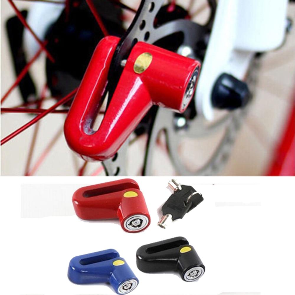 Motorcycle Disc Brake Lock Anti Thief Bicycle Brake Disc Safety Lock for Motorbike Motorcycle Scooter Red