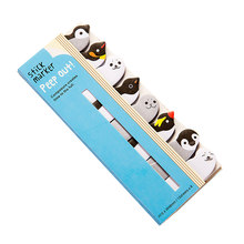 2PCS Message Mini Office Memo Pad Marker Note Index Stationery Bookmark Cute School Supplies Planner Paper Animals Notebook(China)