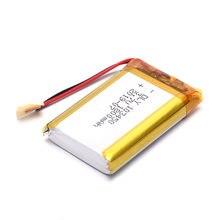 1 шт 37 v 1800mah li po аккумуляторная батарея 103450 для dvd