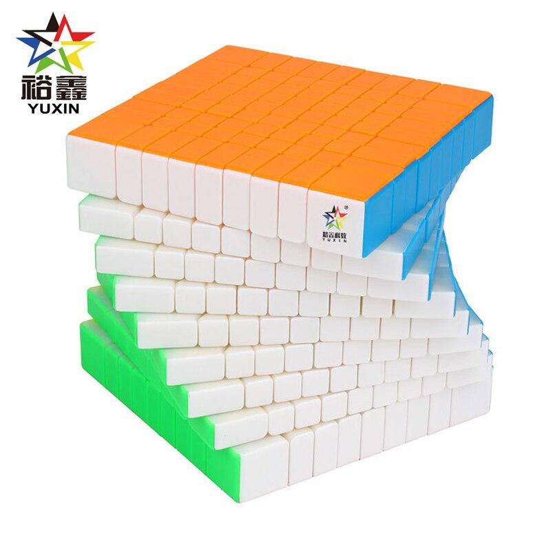 YUXIN petite magie professionnelle sans autocollant 9*9*9 Cube magique magnétique vitesse Puzzle 9x9 Cube jouets éducatifs cubo magico 90mm