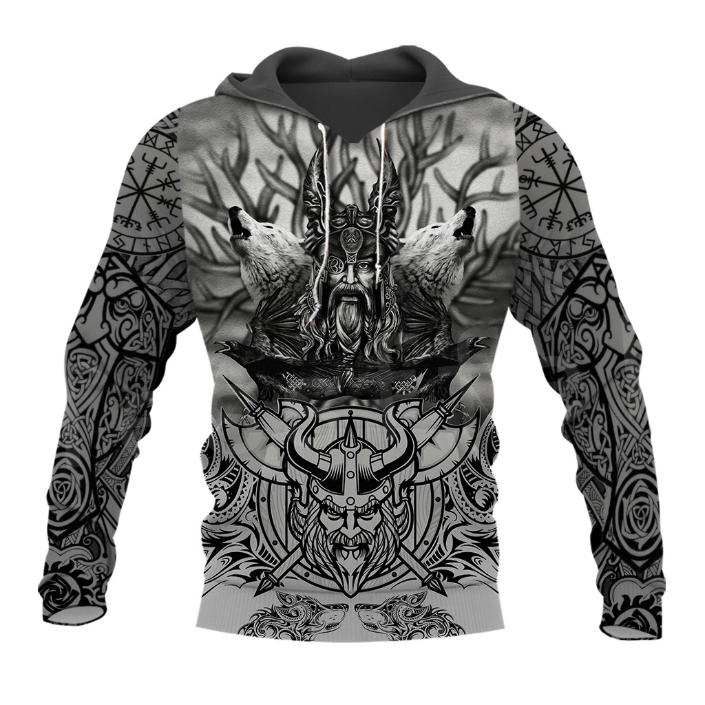 Tessffel Unisex Vikings Symbol Tattoo Viking Warriors NewFashion Harajuku MenWomen 3DPrint Zipper/Sweatshirts/Hoodies/Jacket S12